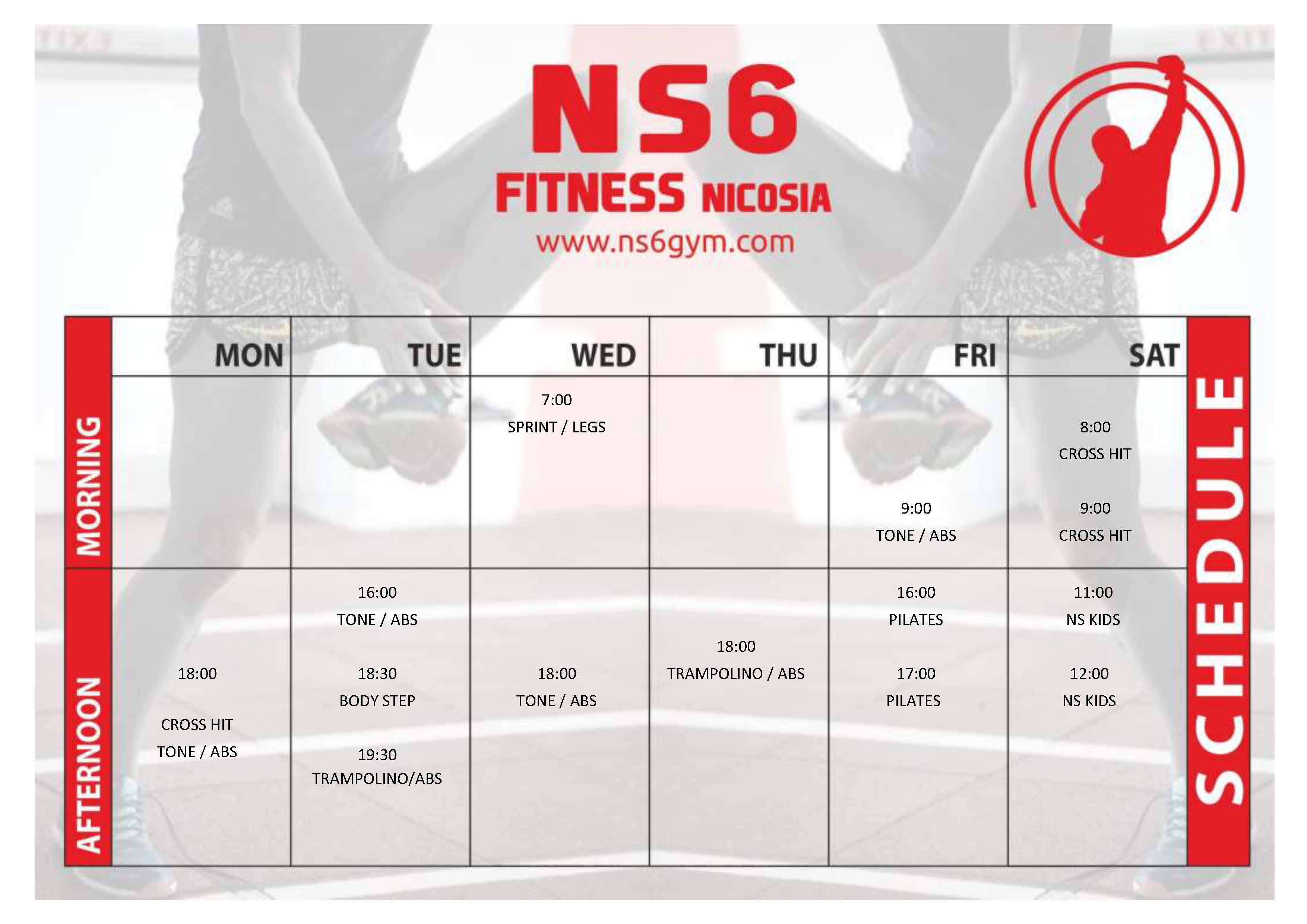 NEW gym schedule ns6 16.09.2019
