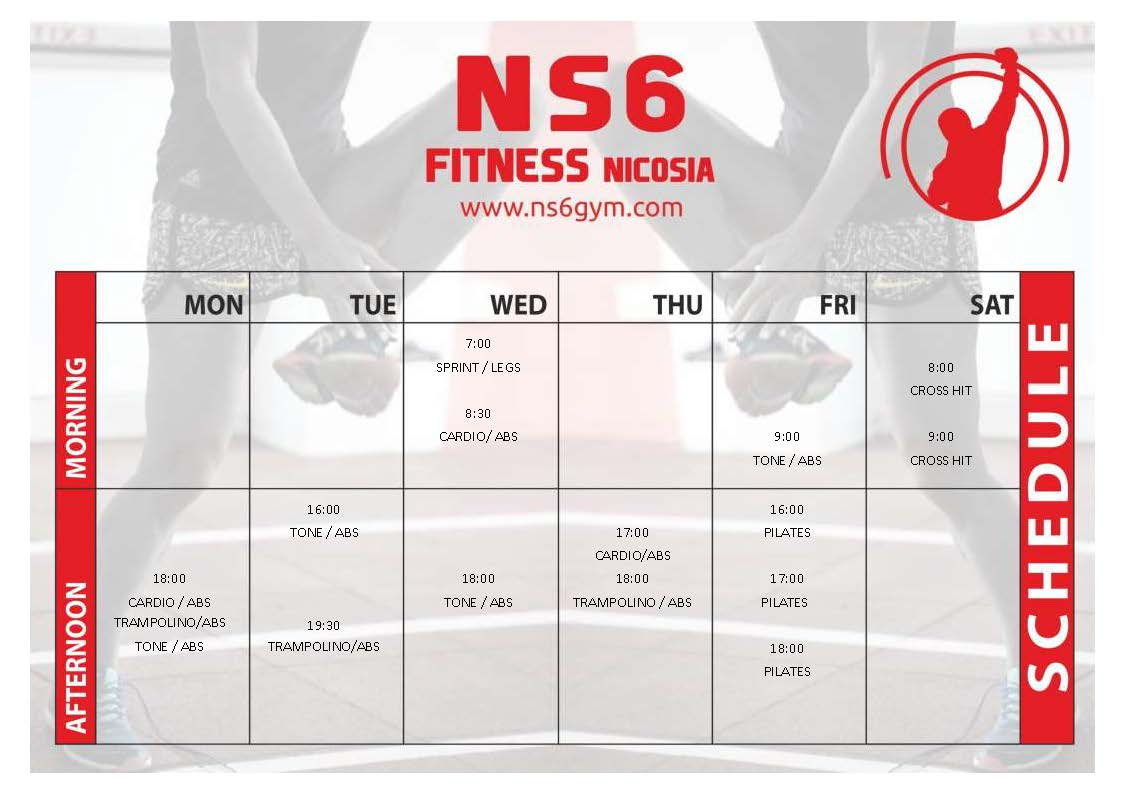gym schedule ns6 1